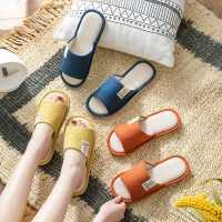 拖鞋女春秋季亚麻室内棉麻家居家用四季情侣布艺地板拖男夏季防滑