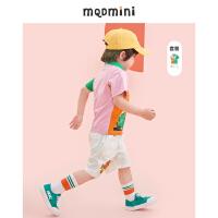 【2件3折价:168】MQD童装男小童21夏装小恐龙POLO套装短裤两件套宽松运动套装洋气