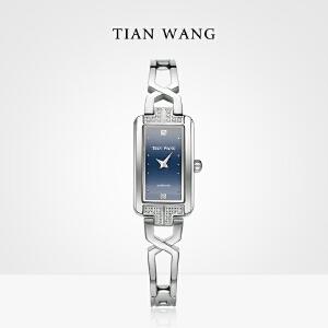 新品 天王表 正品 石英表女士钢带方形小手表时尚潮流女表LS3853