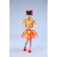 六一儿童演出服喜庆中国风开门红打鼓表演服装幼儿秧歌服装