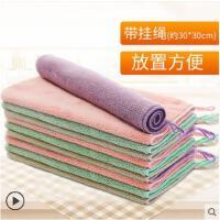 厨房家务清洁家用微纤维柔软吸水不易掉毛抹布不易沾油清洁布