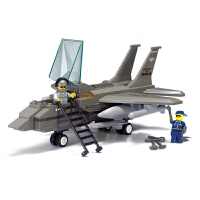 【满200减100】小鲁班空军部队军事系列儿童益智拼装积木玩具 F-15战斗机M38-B7200