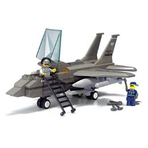 【当当自营】小鲁班空军部队军事系列儿童益智拼装积木玩具 F-15战斗机M38-B7200