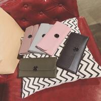 长款pu软面按扣拉链钱包2折钱夹手拿包手机女包包时尚包
