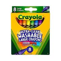 保税区发货 Crayola绘儿乐 8色可水洗大蜡笔  2岁以上 海外购