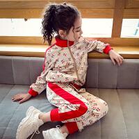 女童运动套装春秋儿童套装中大童小女孩休闲两件套