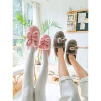 女士可爱卡通棉鞋 新款包跟室内棉拖鞋女 情侣厚底毛绒家居棉鞋子男 毛绒月子棉鞋