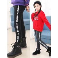 冬季保暖儿童裤子外穿一体绒韩版潮女童加绒打底裤秋