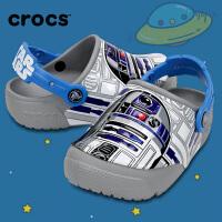 【下单立减120】Crocs卡骆驰新款童鞋 趣味学院R2D2酷闪小克骆格男童休闲凉鞋|204135 趣味学院R2D2酷