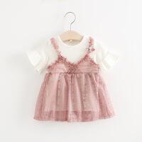 女宝宝夏装6裙子3-12个月4婴儿5衣服7夏季8女童9-10连衣裙韩版潮
