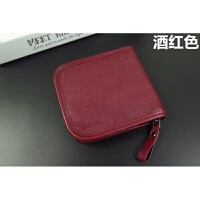 女式钱包短款大容量拉链韩版男士钱夹休闲短钱包简约手工皮具