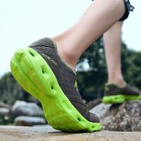 男鞋春季运动户外休闲鞋男士登山鞋透气低帮系带单鞋