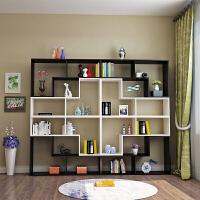 图书馆书架简易书架自由组合置物架卧室落地格子柜客厅隔断创意书柜酒柜展柜B