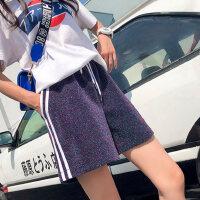 运动短裤女2018新款夏季阔腿休闲宽松跑步外穿学生韩国a字热裤