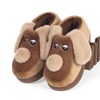 冬季情侣包跟棉拖鞋男女童居保暖厚底防滑可爱子棉鞋