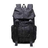 2018男士双肩包潮男背包中学生书包休闲韩版电脑包登山双肩旅行包 黑色 迷彩