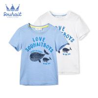 【3件3折:33.9元】水孩儿童装小童夏季圆领衫男童短袖T恤