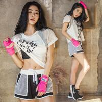 健身房运动套装女 夏季速干性感韩国专业跑步瑜伽健身服