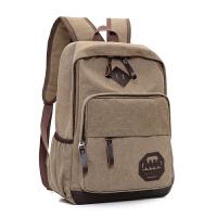 双肩包男士帆布背包韩版时尚书包新款学生潮包包电脑包旅行包