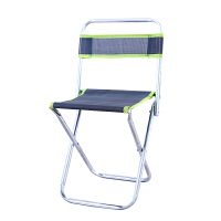 折叠凳子便携式迷你金属矮马扎休闲户外钓鱼小椅子火车靠背椅 大号靠背 4096 颜色随机