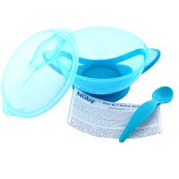 【当当自营】努比Nuby 婴儿碗勺套装吸盘碗辅食碗附儿童宝宝新生儿辅食勺子儿童餐具 蓝色 01NB2354194