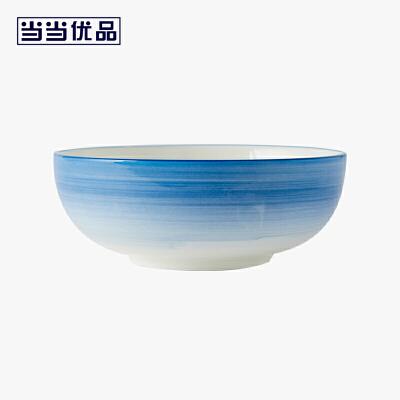 当当优品 8寸汤碗单只装 星河系列 陶瓷碗 日式碗当当自营 希尔顿制造商 釉下彩 潮州白瓷 微波炉适用