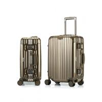 商务铝框拉杆箱时尚行李箱女万向轮密码箱镜面旅行箱男 钛合金(全配色铝框) 28寸