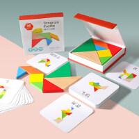 儿童益智力开发七巧板拼图玩具3-6岁半幼儿园一年级小学生用教具7