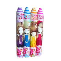 韩国新款花花姑娘铅笔造型七彩橡皮擦 超大号橡皮擦学生礼物 单支装