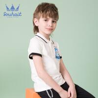 souhait水孩儿童装儿童夏季儿童POLO衫男童短袖T恤SHNXBD09CP606