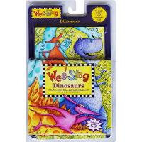 欧美经典儿歌 wee sing dinosaurs 英文原版 恐龙时代 附CD 儿童韵文歌谣