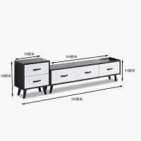 北欧电视柜茶几组合现代简约小户型迷你实木客厅家具套装 +斗柜 组装