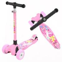 3-6-14岁儿童滑板车滑滑车溜溜车小孩三四轮折叠闪光单脚踏板车