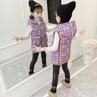 秋冬季韩版外套潮女童冬装棉马甲中大童时尚坎肩背心