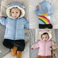 婴儿上衣冬季宝宝加绒保暖外出服02-3-6-9-12个月1岁外套冬装衣服