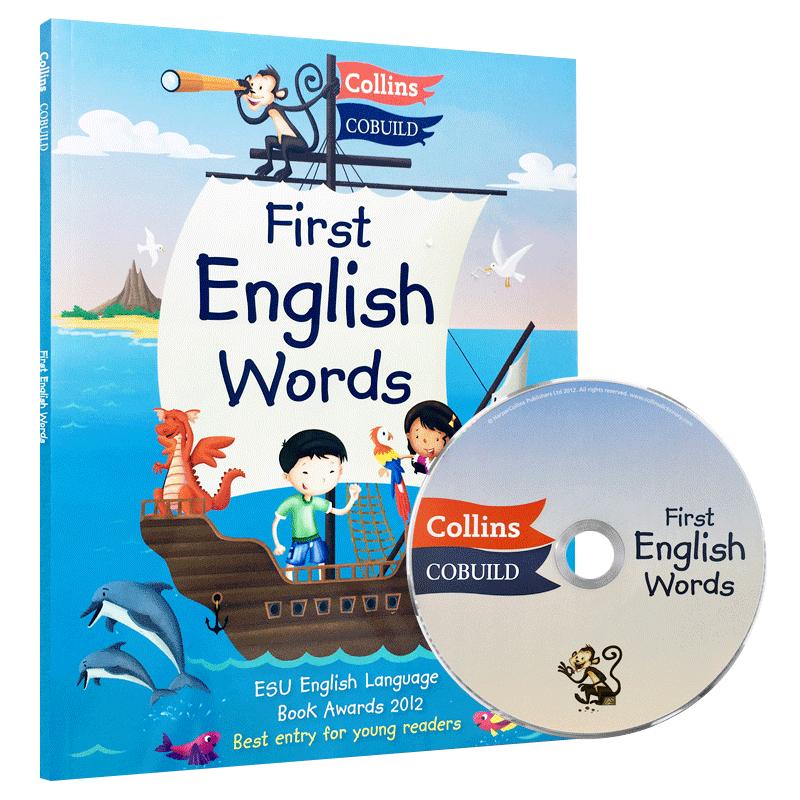 我的第一本英文词典 英文原版书 Collins First English Word 柯林斯儿童英语图解字典 少儿英语词汇 英语启蒙 英文版正版进口书籍 英国爱丁堡大奖,36个主题+300个常用单词