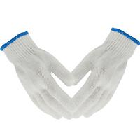 线手套600克细纱白色防滑耐磨吸汗舒适作业防护工地搬运劳保用品