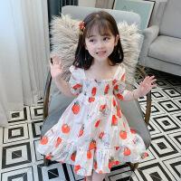 女童短袖连衣裙夏季女宝宝休闲洋气公主裙儿童草莓裙子
