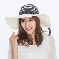大沿太阳帽夏天女士式韩版防晒潮户外旅游沙滩帽遮阳草帽子