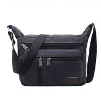 男包帆布男士休闲包包单肩包斜跨背包横款大容量多功能斜挎包背包