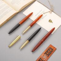 红木质签字笔高档金属水笔笔杆中性笔 商务礼物个性定制刻字logo