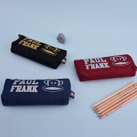 Paul Frank大嘴猴PL0528复古时代-船形笔袋 颜色图案随机 单个销售