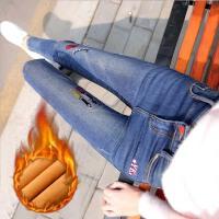 新款秋季牛仔裤女小脚显瘦修身弹力大码长裤紧身铅笔裤秋冬