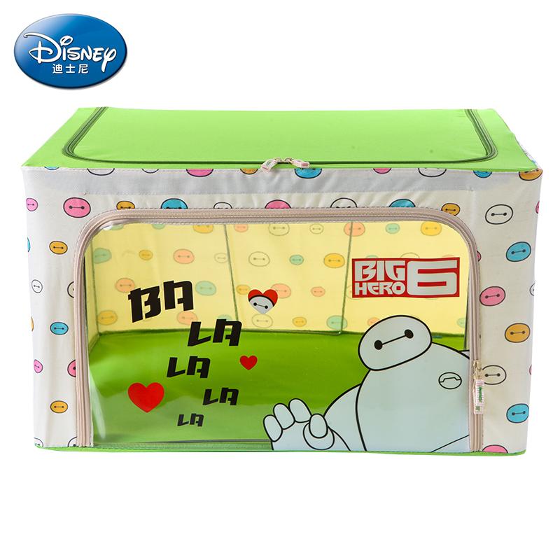 """迪士尼Disney正品 66L 超能陆战队""""大白""""D-458(绿色)牛津布4钢架折叠收纳箱 整理箱 收纳盒"""