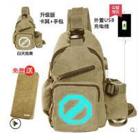 单肩包 新款胸包 男士韩版 潮包斜挎包 帆布小包背包 腰包男包包