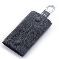 男士简约牛皮大容量腰挂钥匙包女式可爱真皮多功能时尚锁匙包韩国