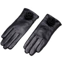 显瘦骑车修手加厚保暖触屏羊皮手套触摸屏女士真皮手套
