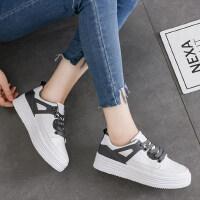 厚底板鞋小白鞋女百搭韩版帆布鞋女学生休闲鞋子