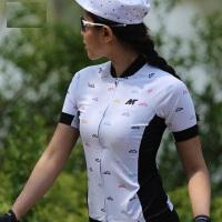 户外公路车骑行裤速干紧身短袖健身衣女 新款短袖自行车 骑行服女