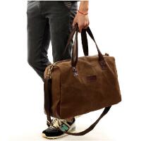 纯棉帆布包大包 大容量旅游包 男士出行包背包 男包女单肩手提旅行包 行李包